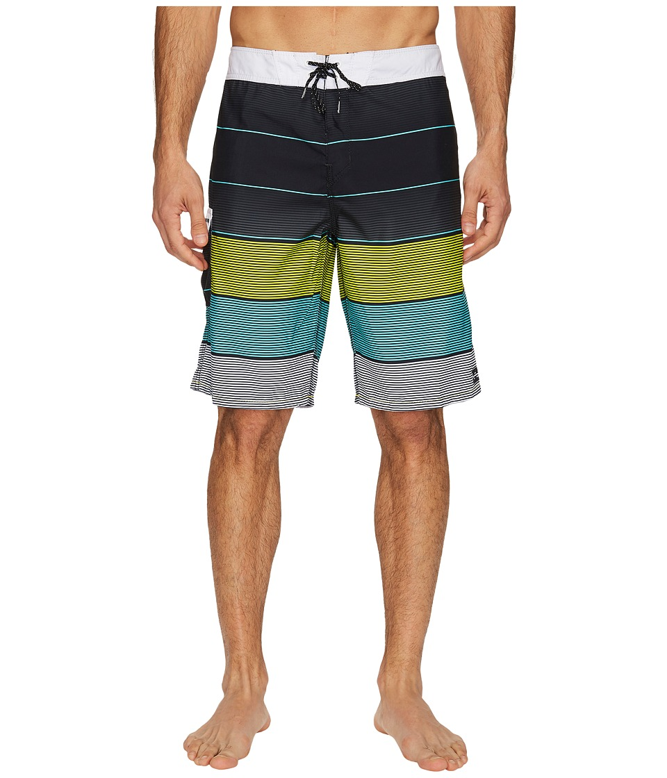 Billabong - All Day Original Stripe Boardshorts (Black) Men's Swimwear