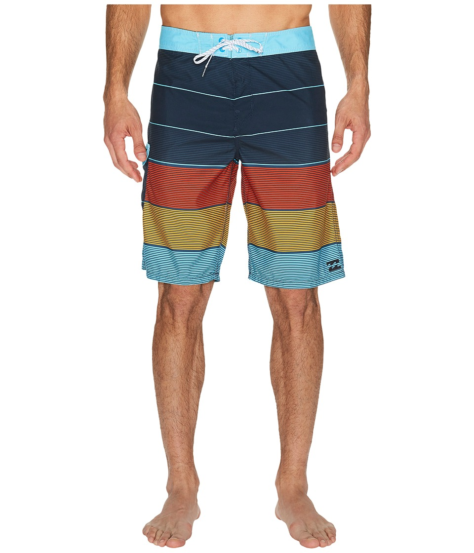 Billabong - All Day Original Stripe Boardshorts (Indigo) Men's Swimwear
