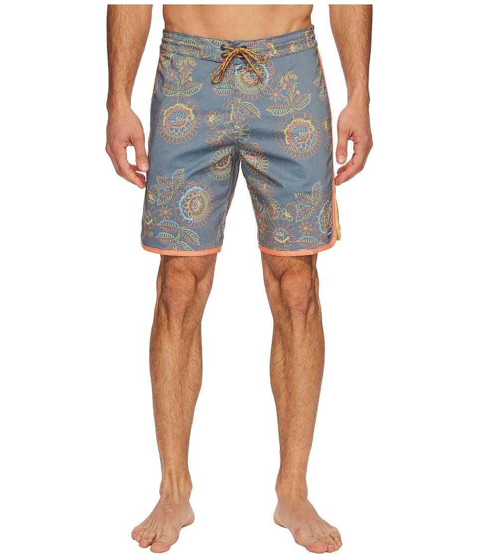 Billabong - 73 Lo Tide Line Up Boardshorts (Indigo) Men's Swimwear