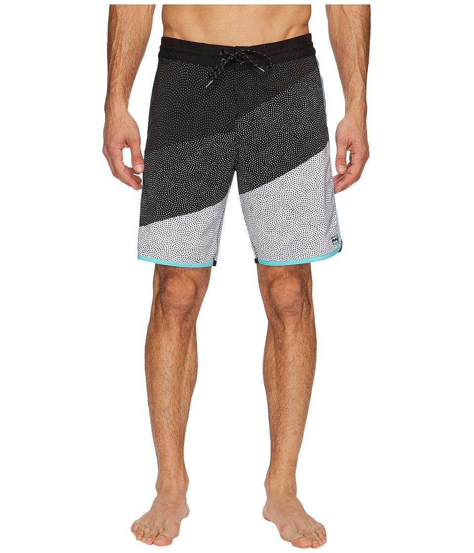 Billabong - 73 Lo Tide Line Up Boardshorts (Black) Men's Swimwear
