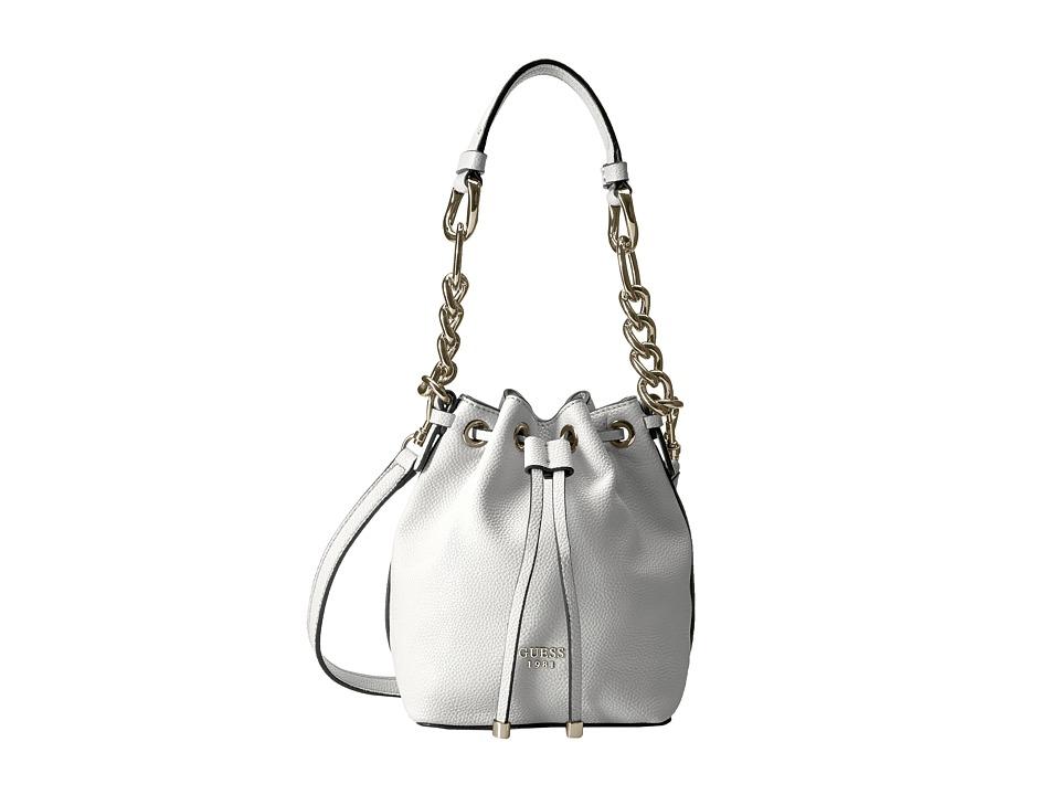GUESS - Darby Petite Drawstring (Chalk) Drawstring Handbags