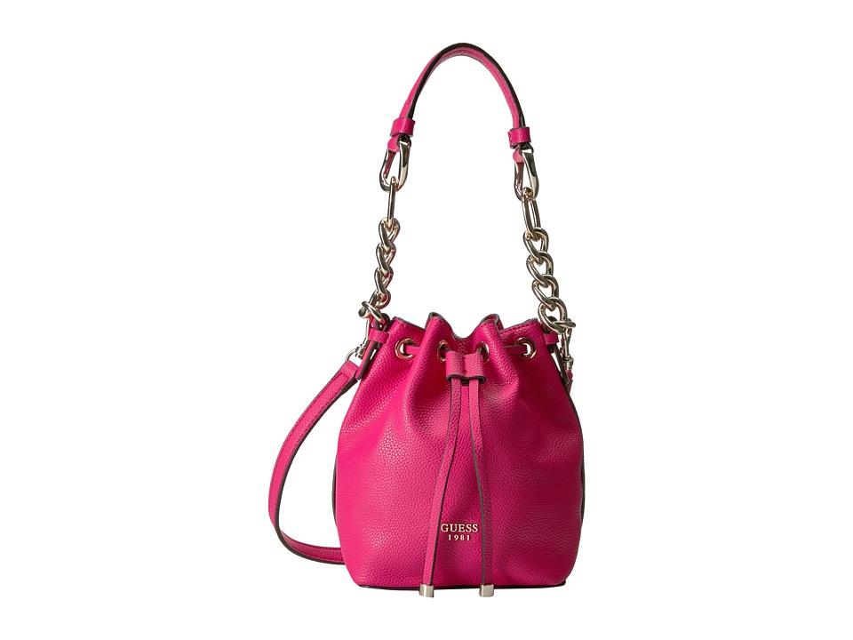 GUESS - Darby Petite Drawstring (Fuchsia) Drawstring Handbags