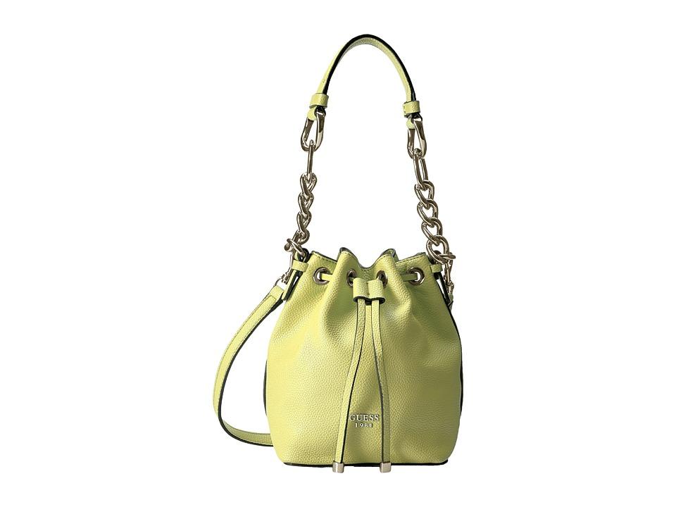 GUESS - Darby Petite Drawstring (Lime) Drawstring Handbags