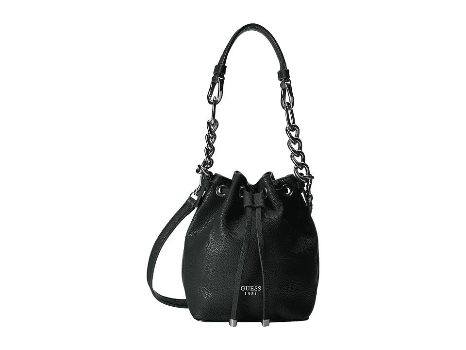 GUESS - Darby Petite Drawstring (Black) Drawstring Handbags