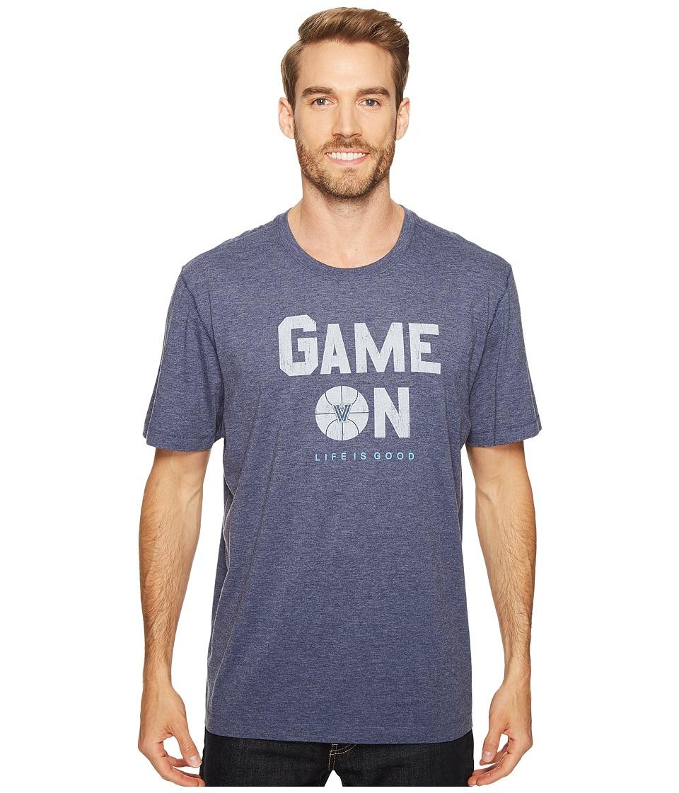 Life is Good - Villanova Wildcats Game On Cool Tee (Darkest Blue) Men's T Shirt