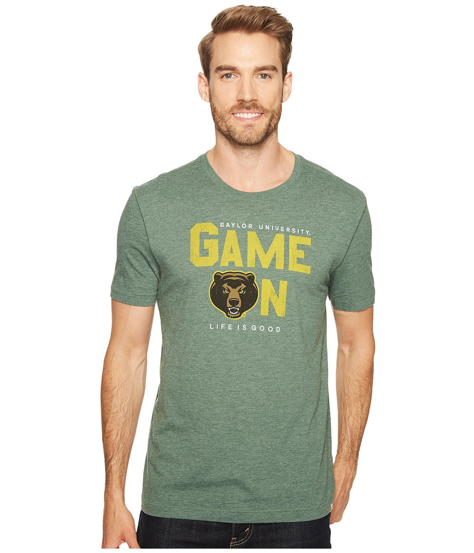 Life is Good - Baylor Bears Game On Cool Tee (Sport Dark Green) Men's T Shirt