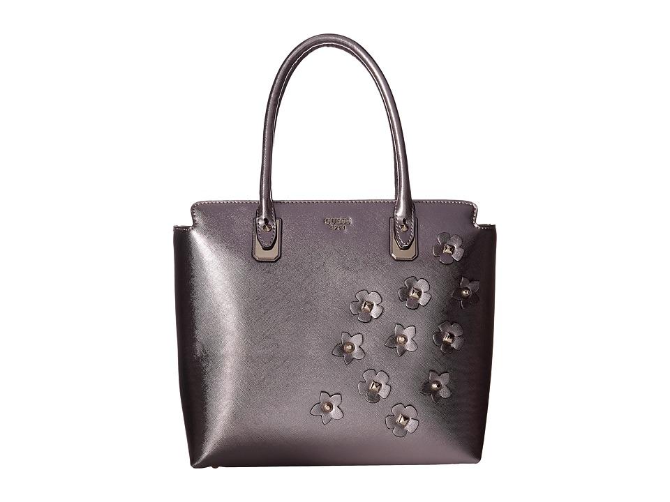GUESS - Liya Tote (Pewter) Tote Handbags