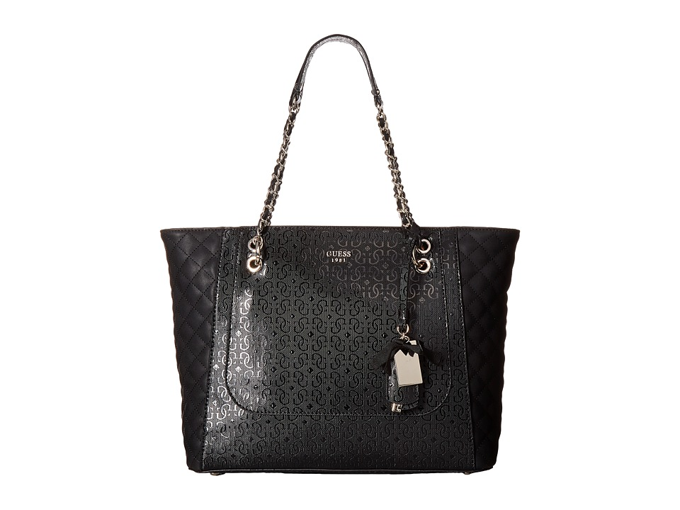 GUESS - Marian Medium Tote (Black) Tote Handbags