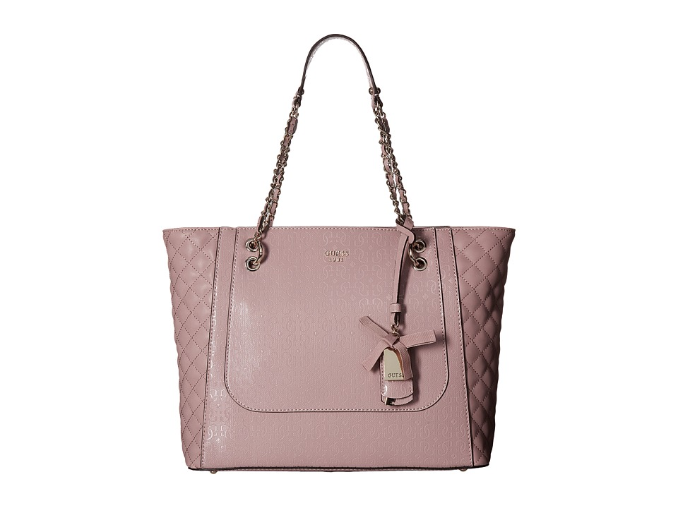 GUESS - Marian Medium Tote (Blush) Tote Handbags