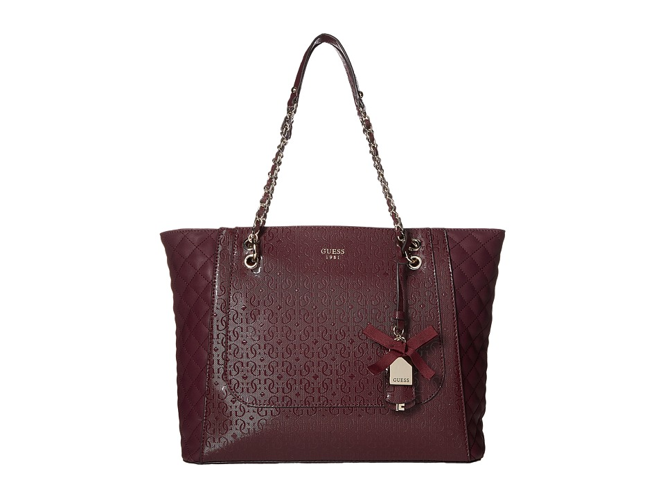GUESS - Marian Medium Tote (Bordeaux) Tote Handbags