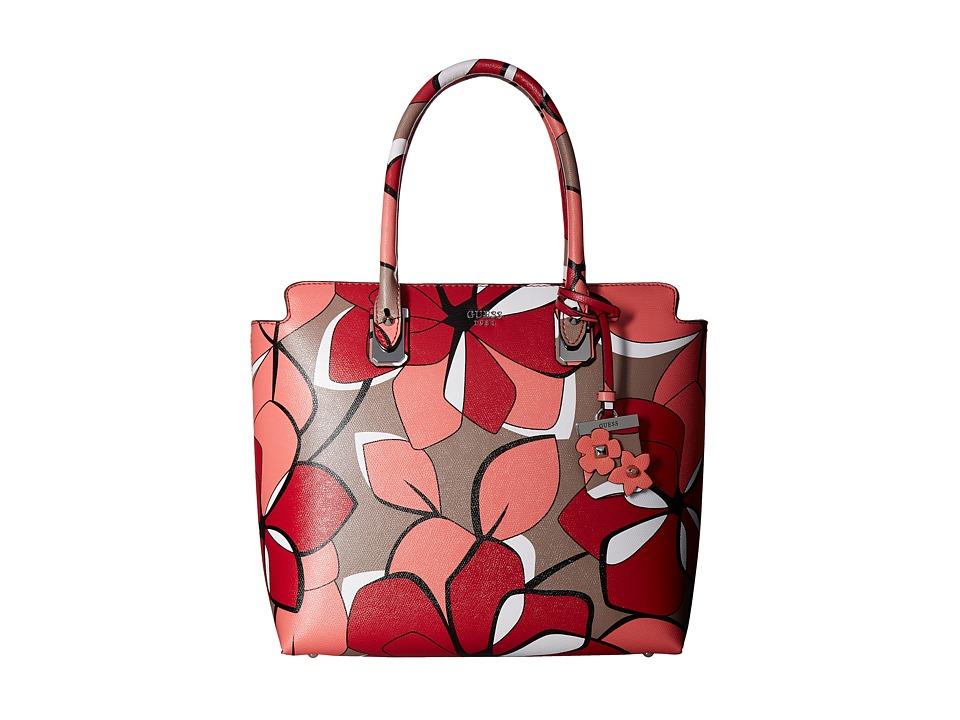 GUESS - Liya Tote (Red Multi) Tote Handbags