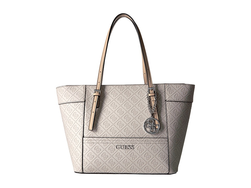 GUESS - Delaney Small Classic Tote (Nude) Tote Handbags