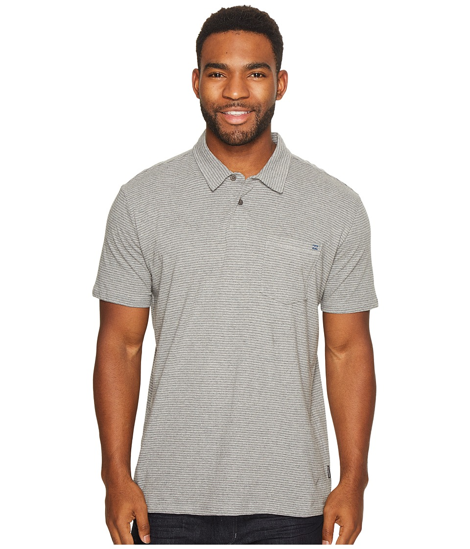 Billabong - Standard Issue Polo (Grey Heather) Men's Clothing