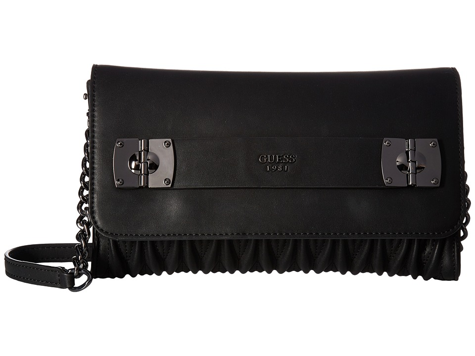 GUESS - Keegan Crossbody Clutch (Black) Cross Body Handbags