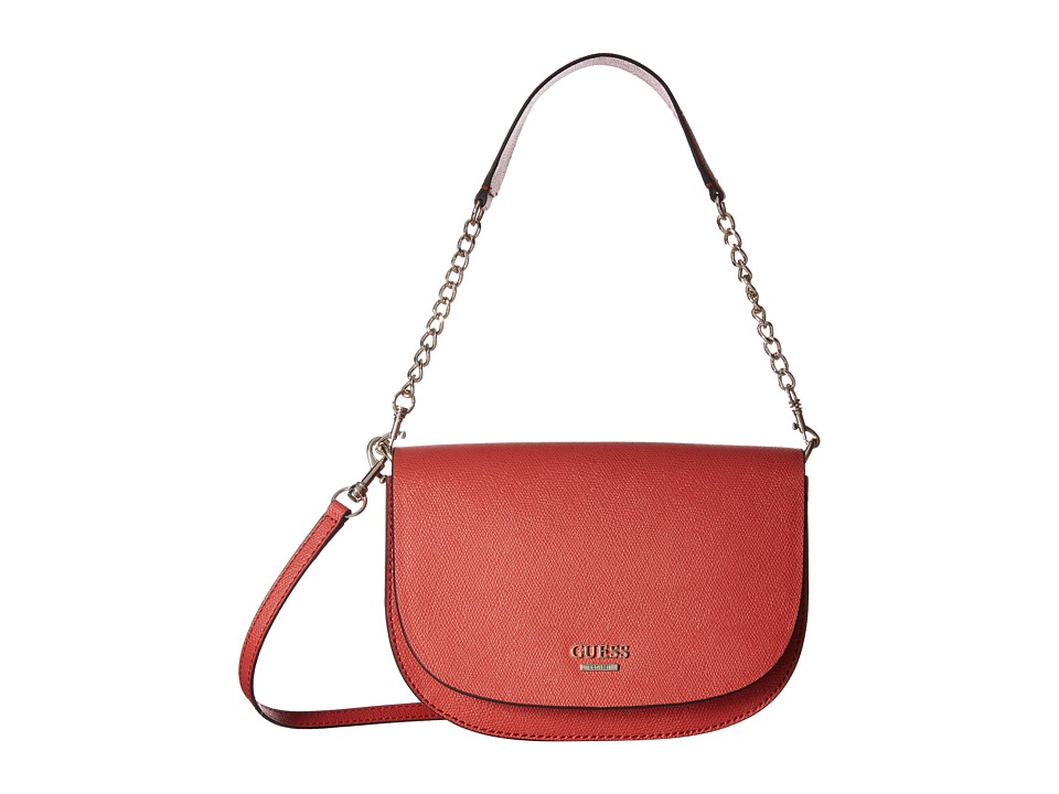 GUESS - Devyn Crossbody Saddle Bag (Spice) Cross Body Handbags
