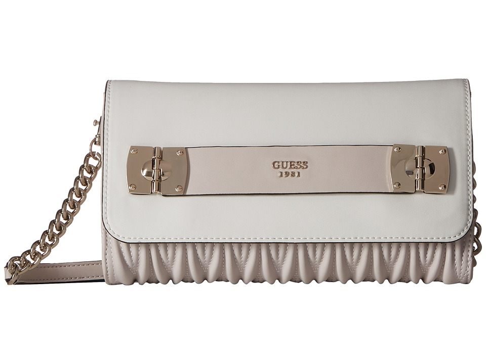 GUESS - Keegan Crossbody Clutch (Powder Multi) Cross Body Handbags