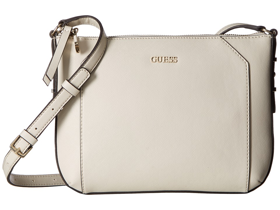 GUESS - Gia Crossbody Top Zip (Stone) Cross Body Handbags
