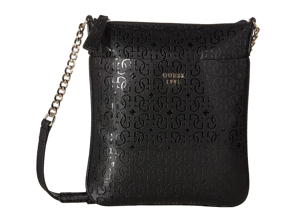 GUESS - Marian Petite Crossbody Top Zip (Black) Cross Body Handbags
