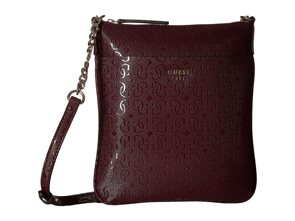 GUESS - Marian Petite Crossbody Top Zip (Bordeaux) Cross Body Handbags