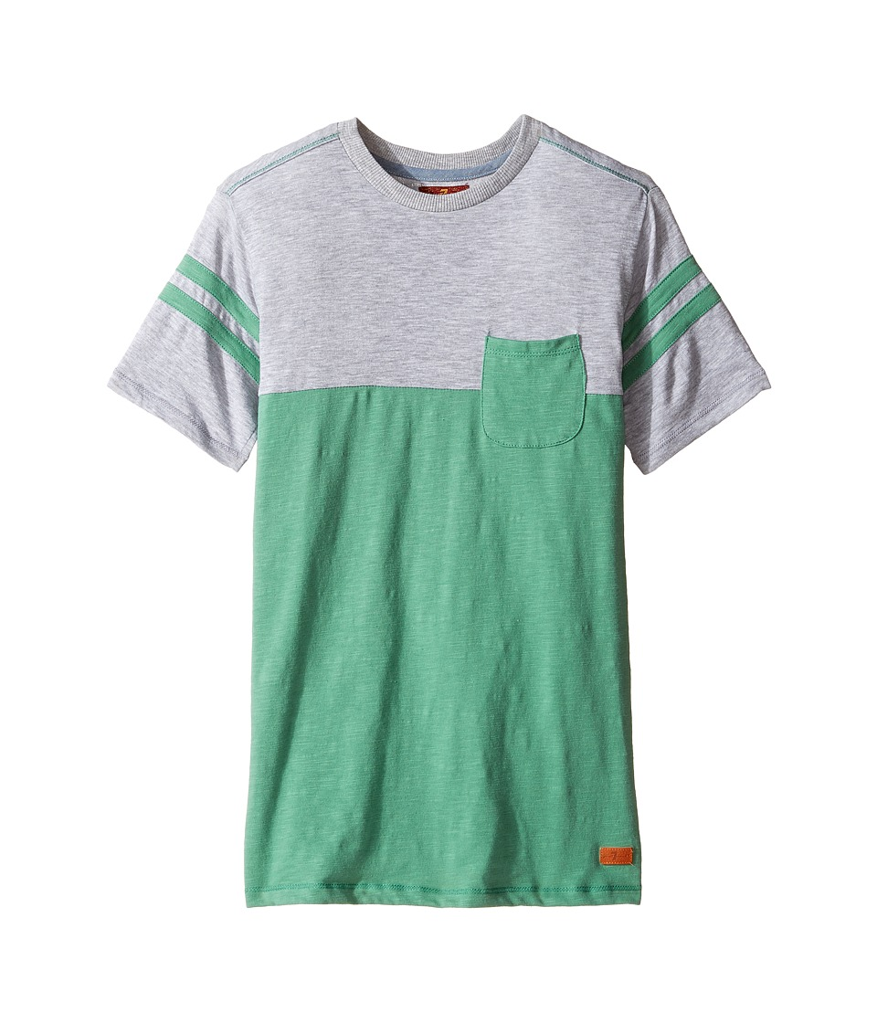 7 For All Mankind Kids - Crew Neck Tee (Big Kids) (Frosty Spruce) Boy's T Shirt
