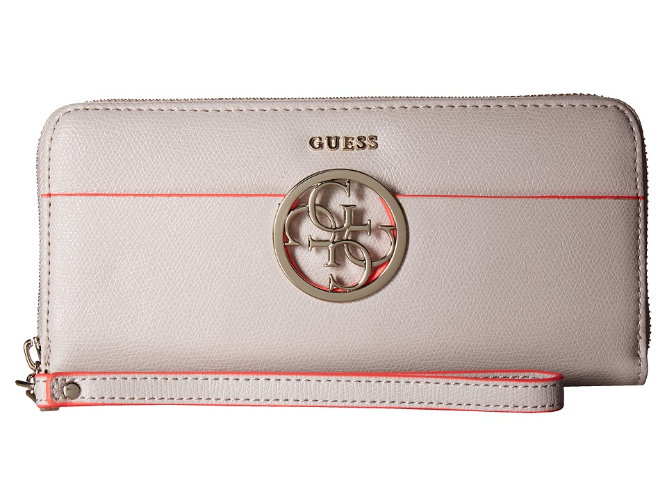 GUESS - Devyn SLG Large Zip Around (Nude) Handbags