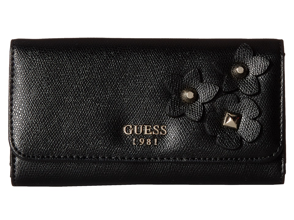 GUESS - Liya SLG Slim Clutch (Black) Handbags