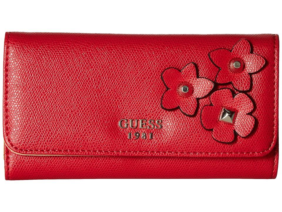 GUESS - Liya SLG Slim Clutch (Red) Handbags