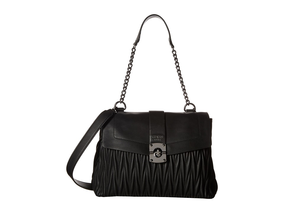 GUESS - Keegan Shoulder Bag (Black) Handbags