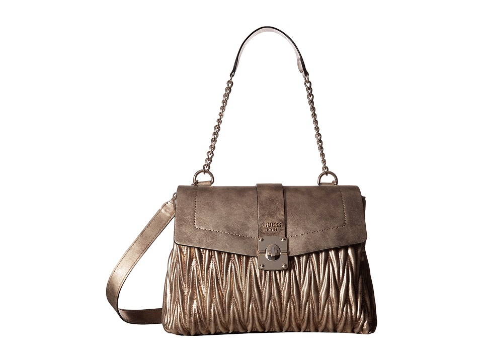 GUESS - Keegan Shoulder Bag (Bronze) Handbags
