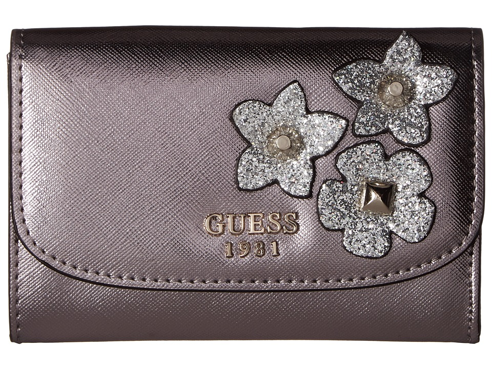 GUESS - Liya SLG Double Date (Pewter) Handbags