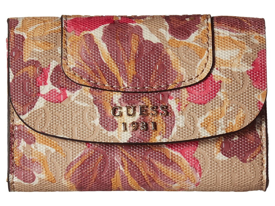 GUESS - Marian SLG Mighty Mini Wallet (Floral Multi) Handbags