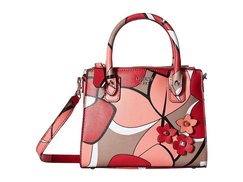 GUESS - Liya Petite Girlfriend (Red Multi) Handbags