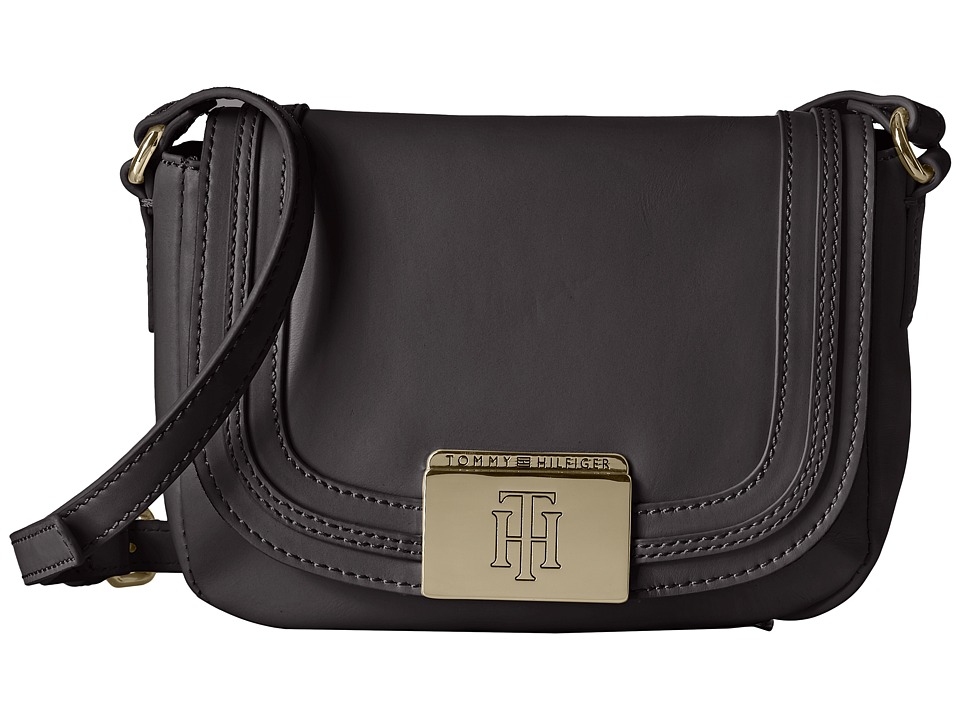 Tommy Hilfiger - Violet Saddle Bag (Black) Handbags