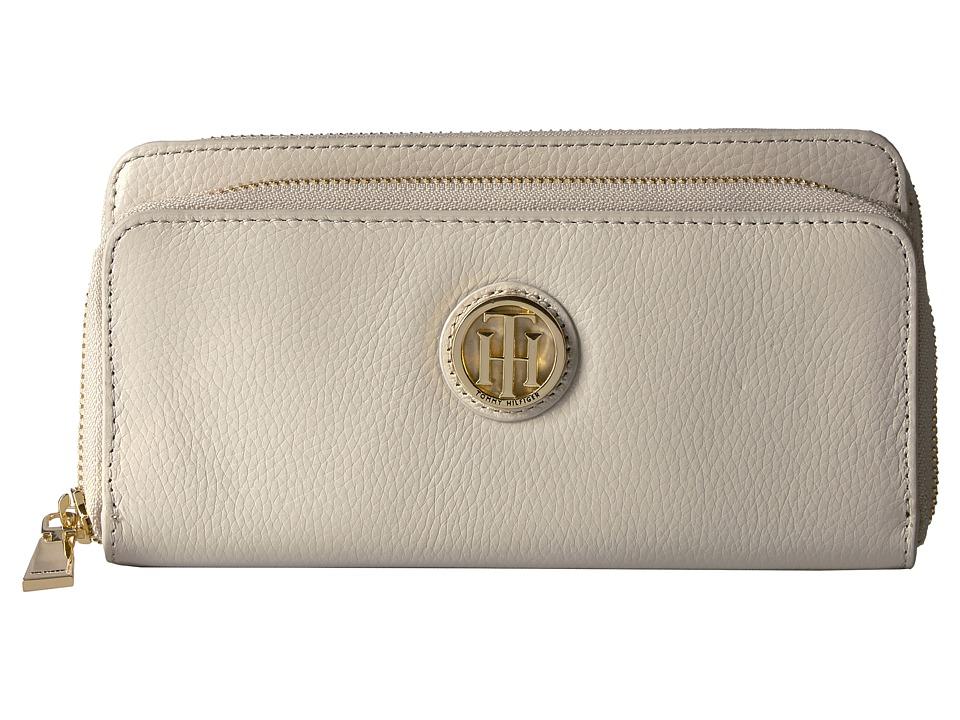 Tommy Hilfiger - Tommy Pebble Double Zip Wallet (Oatmeal) Wallet Handbags