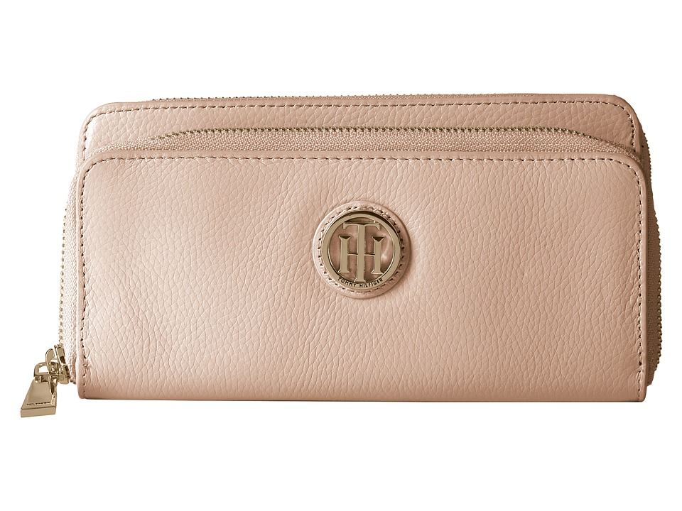 Tommy Hilfiger - Tommy Pebble Double Zip Wallet (Blush) Wallet Handbags