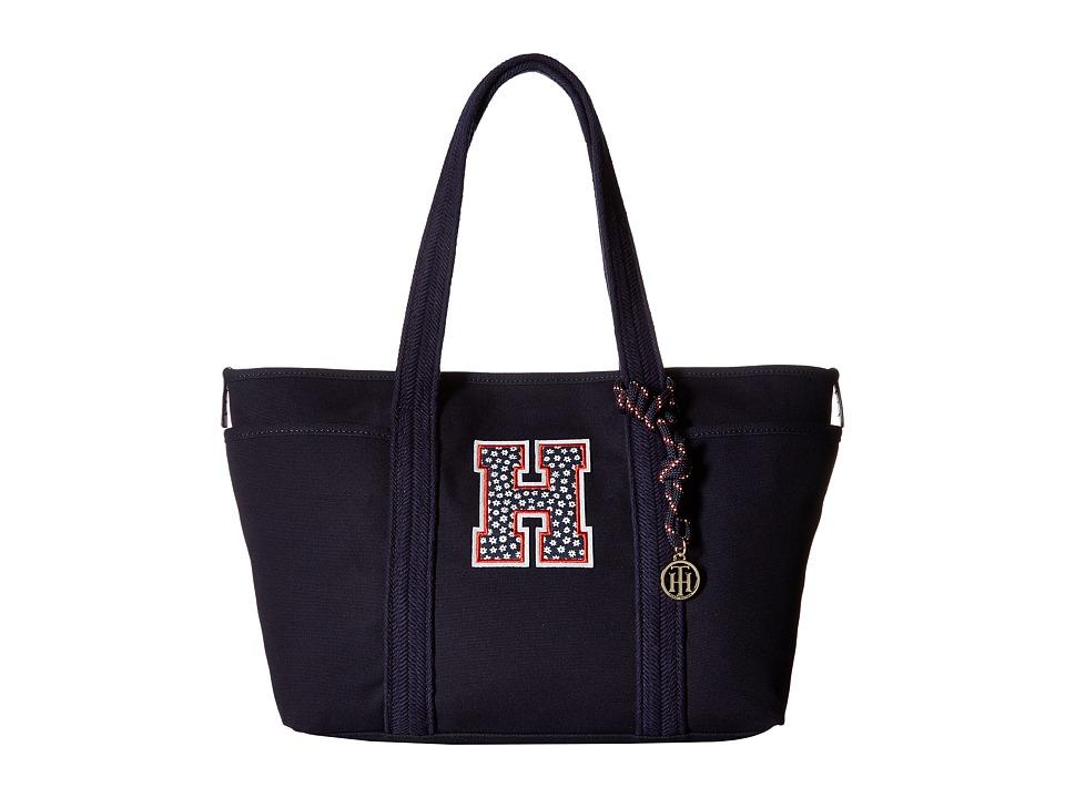 Tommy Hilfiger - Dariana Collegiate Tote (Navy) Tote Handbags