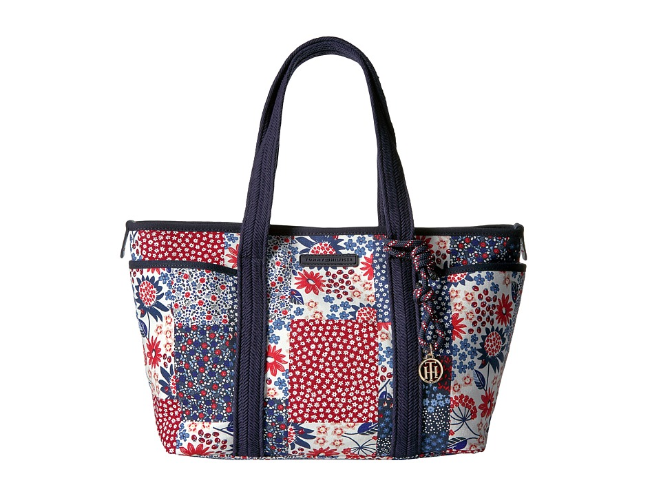 Tommy Hilfiger - Dariana Patchwork Tote (Red/Multi) Tote Handbags