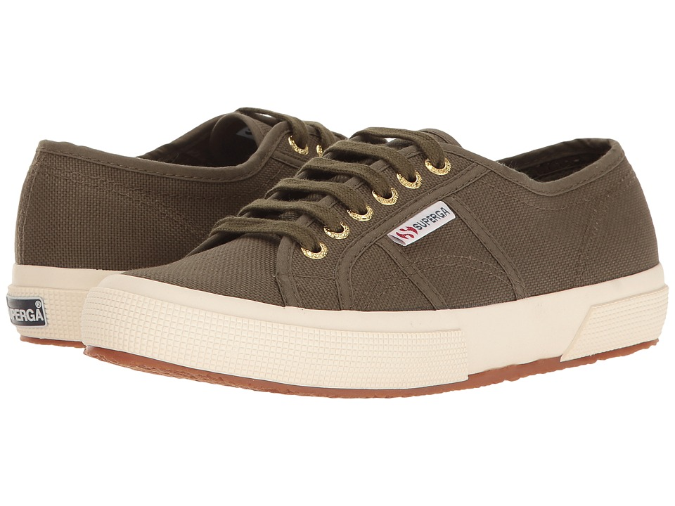 Superga - 2750 COTU Classic (Military/Off-White) Lace up casual Shoes