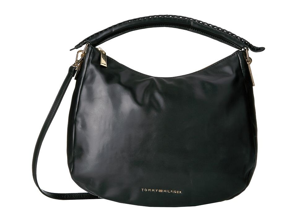 Tommy Hilfiger - Effortless Convertible Hobo (Black) Hobo Handbags