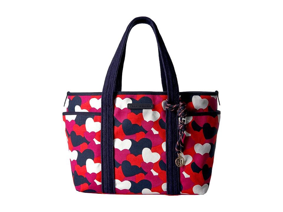 Tommy Hilfiger - Dariana Heart Tote (Bright Rose/Multi) Tote Handbags
