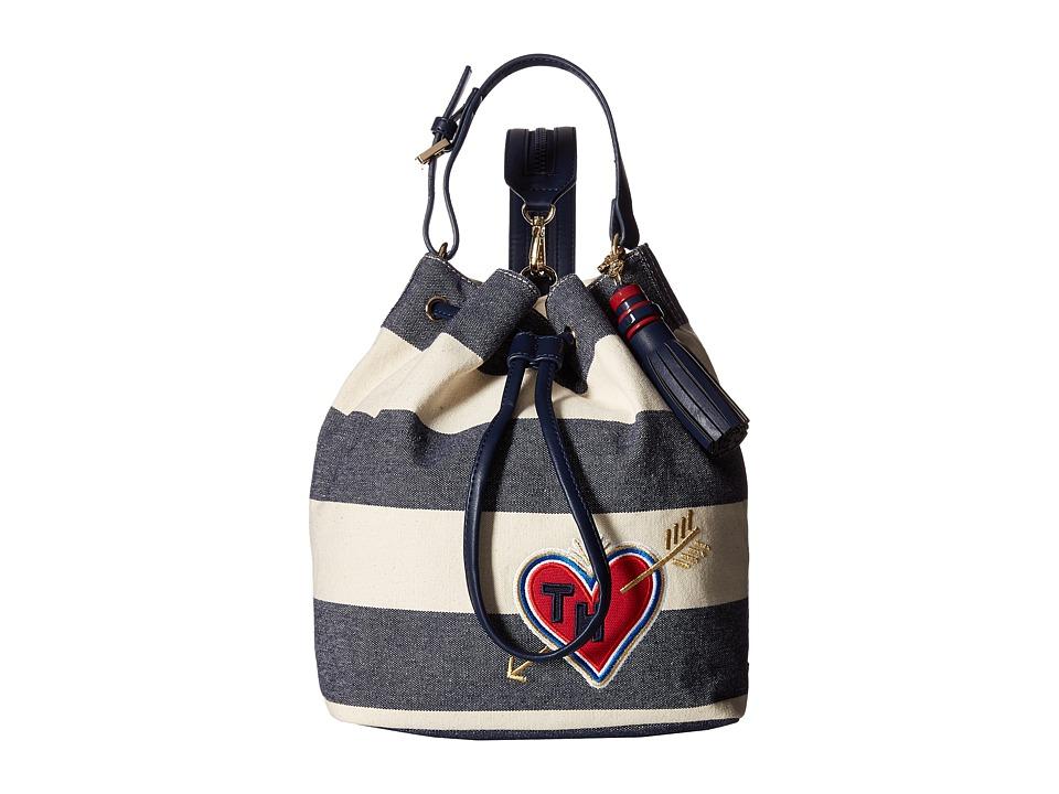 Tommy Hilfiger - Summer of Love Sling Backpack (Navy/Natural) Backpack Bags