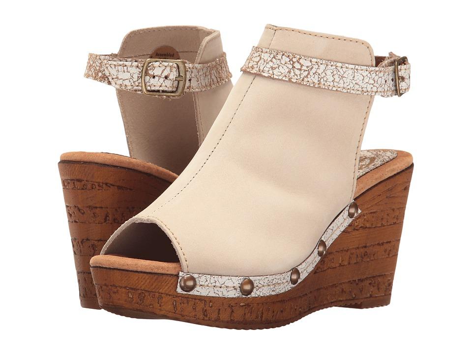 Sbicca - Damaris (Beige) Women's Wedge Shoes