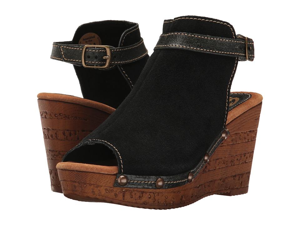 Sbicca - Damaris (Black) Women's Wedge Shoes