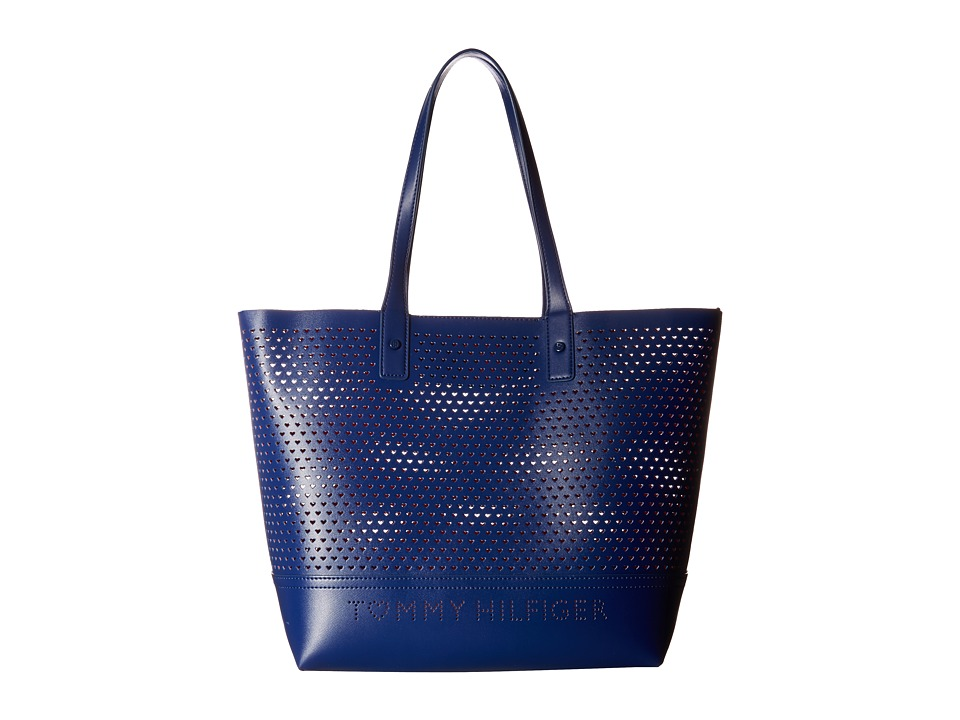 Tommy Hilfiger - Laura Tote (Cobalt/Fiery Red) Tote Handbags