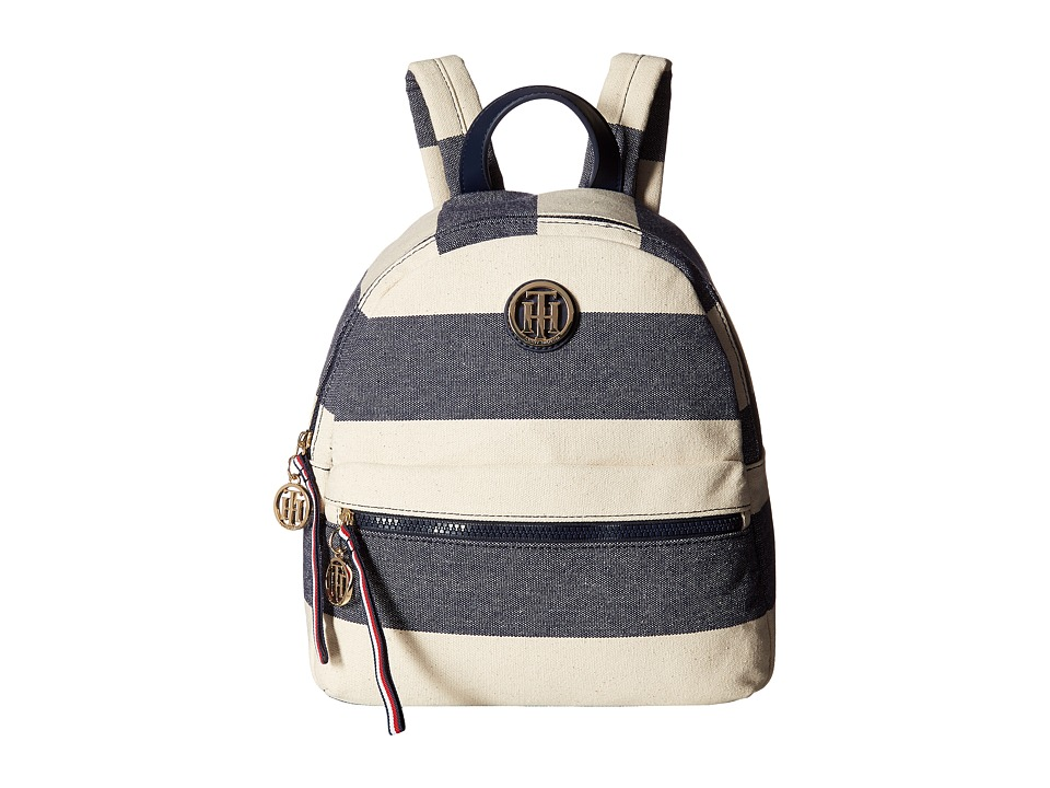 Tommy Hilfiger - Tommy Rugby Stripe Backpack (Navy/Natural) Backpack Bags