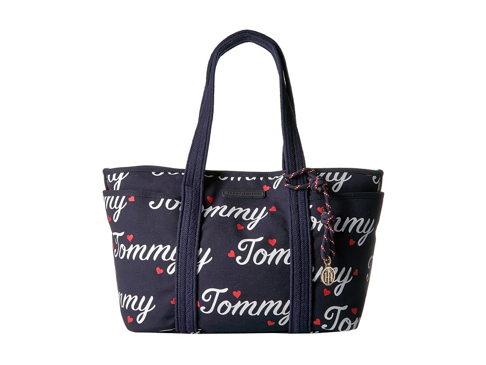 Tommy Hilfiger - Dariana Tommy Tote (Navy/Fiery Red) Tote Handbags