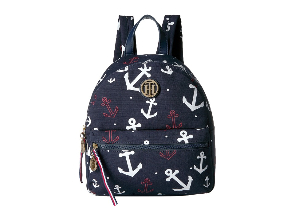 Tommy Hilfiger Tommy Falling Anchor Backpack (Navy) Backpack Bags