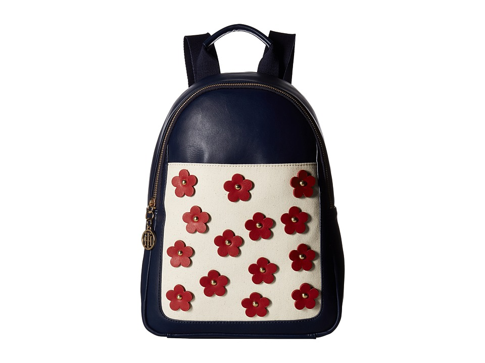 Tommy Hilfiger - Tommy Flower Backpack (Navy) Backpack Bags