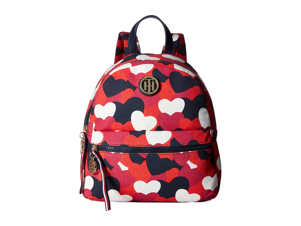 Tommy Hilfiger - Tommy Heart Backpack (Bright Rose/Multi) Backpack Bags