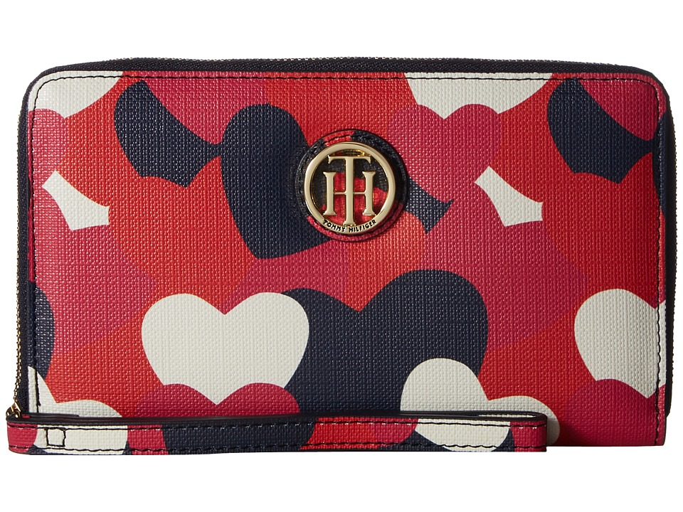 Tommy Hilfiger - Tommy Heart Wristlet (Bright Rose/Multi) Wristlet Handbags